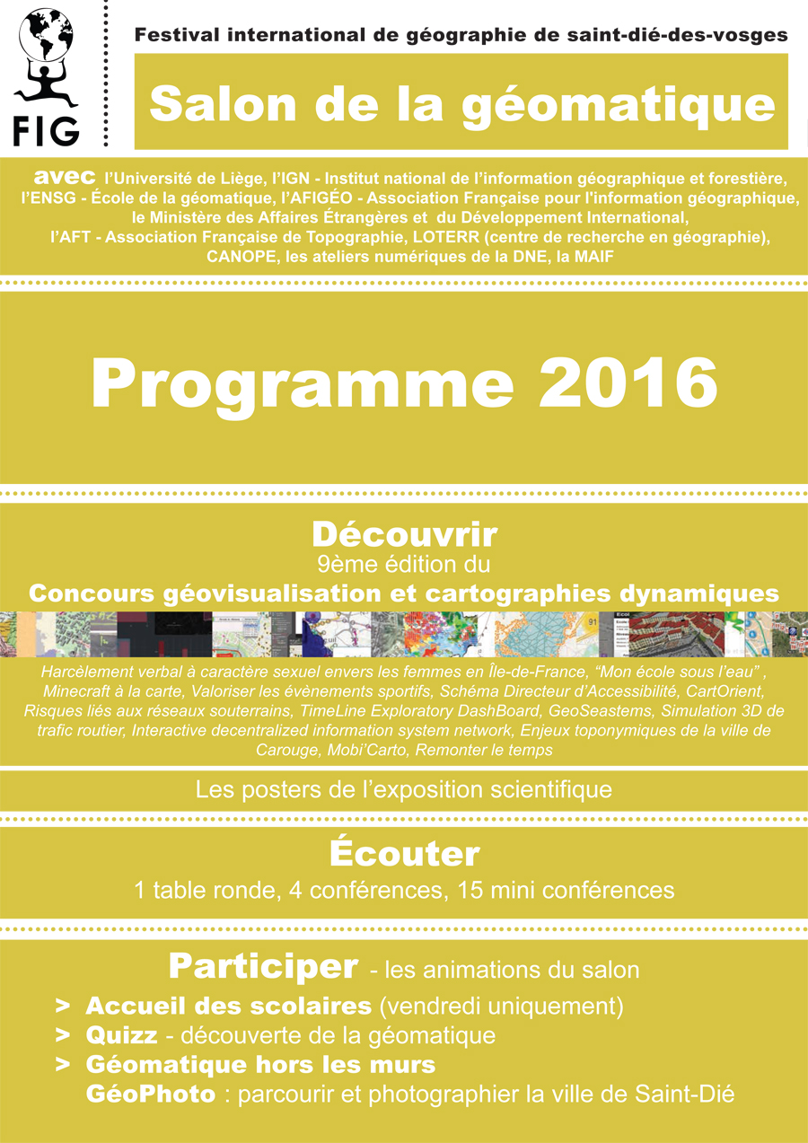 Programme Salon Geomatique 2016